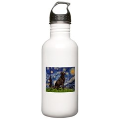 Starry Chocolate Lab Stainless Water Bottle 1.0L