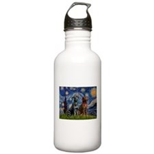 Starry / 2 Labradors (Blk+C) Water Bottle