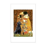 The Kiss & Black Lab Mini Poster Print