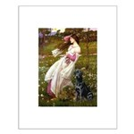 Windflowers & Black Lab Small Poster