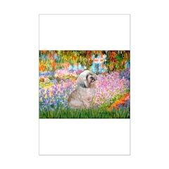 Garden / Lhasa Apso Mini Poster Print