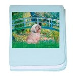 Bridge / Lhasa Apso baby blanket