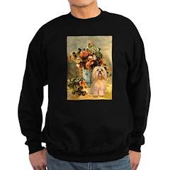 Vase / Lhasa Apso #9 Sweatshirt (dark)