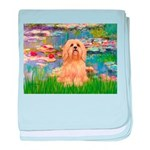 Lilies / Lhasa Apso #9 baby blanket