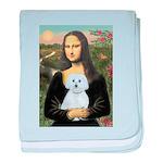 Mona Lisa / Maltese (B) baby blanket