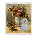 Vase / Maltese (B) Throw Blanket