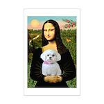 Mona's Maltese (R) Mini Poster Print