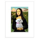 Mona's Maltese (R) Small Poster