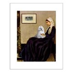 Whistler's Mother Maltese Small Poster