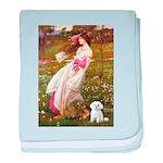 Windflowers / Maltese baby blanket
