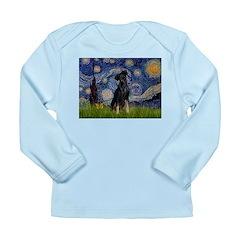 Starry / Min Pinscher Long Sleeve Infant T-Shirt