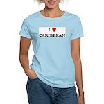 I Love Caribbean Women's Pink T-Shirt