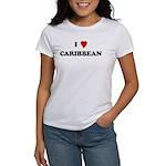 I Love Caribbean Women's T-Shirt