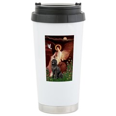 Angel & Newfoundland Ceramic Travel Mug