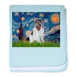 Starry Night / Landseer baby blanket