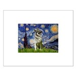 Starry / Nor Elkhound Small Poster