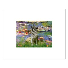 Lilies / Nor Elkhound Small Poster