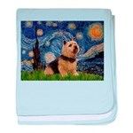 Starry /Norwich Terrier baby blanket