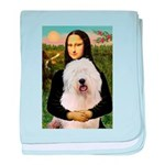 Mona's Old English Sheepdog baby blanket