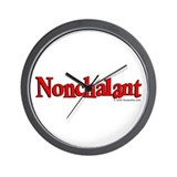 Nonchalant Wall Clock