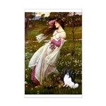 Windflowers & Papillon Mini Poster Print