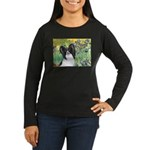 Irises & Papillon Women's Long Sleeve Dark T-Shirt