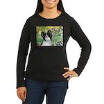 Irises & Papillon Women's Long Sleeve Dark T-Shirt