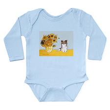 Sunflowers / Papillon(f) Long Sleeve Infant Bodysu