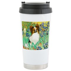 Irises / Papillon Ceramic Travel Mug