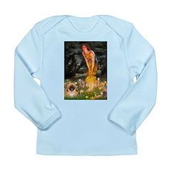 Fairies / Pekingese(r&w) Long Sleeve Infant T-Shir