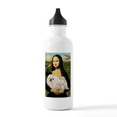 Mona /Pekingese (w) Stainless Water Bottle 1.0L