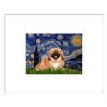 Starry / Pekingese(r&w) Small Poster