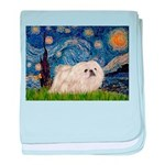Starry / Pekingese(w) baby blanket