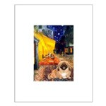 Cafe /Pekingese (r) Small Poster