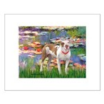 Lilies & Pitbull Small Poster
