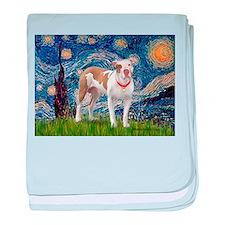 Starry Night Pitbull baby blanket