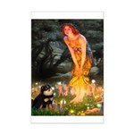 Fairies / Pomeranian (b&t) Mini Poster Print
