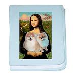 Mona/2 Pomeranians baby blanket