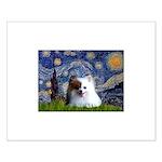 Starry/Pomeranian(r&w) Small Poster