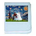 Starry/Pomeranian(r&w) baby blanket