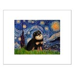 Starry Night / Pomeranian(b&t) Small Poster