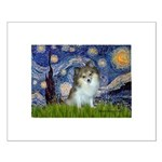 Starry Night /Pomeranian (p) Small Poster