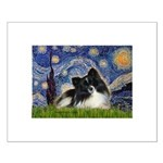 Starry Night / Pomeranian (b&w) Small Poster