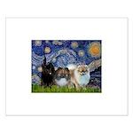 Starry/3 Pomeranians Small Poster