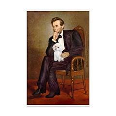 Lincoln/Poodle (W-Min) Mini Poster Print