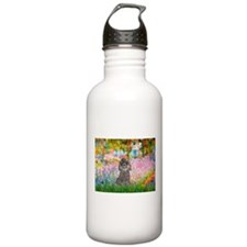 Garden / Poodle (Silver) Water Bottle