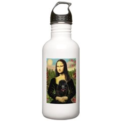 Mona / Poodle (bl) Stainless Water Bottle 1.0L