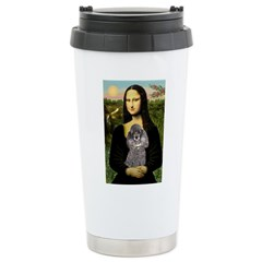 Mona / Poodle (s) Ceramic Travel Mug