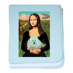 Mona Lisa/Poodle (white/toy) baby blanket
