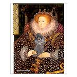 Elizabeth / Poodle (Silver) Small Poster